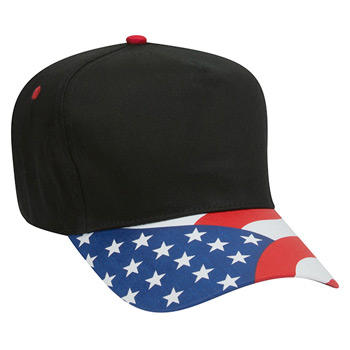 Otto United States Flag Visor Cotton Twill Low Crown Golf Style Caps