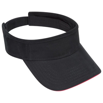 OTTO Brushed Bull Denim Sandwich Visor Sun Visor