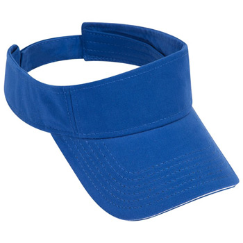 OTTO Ultra Fine Brushed Superior Cotton Twill Sandwich Visor Sun Visor