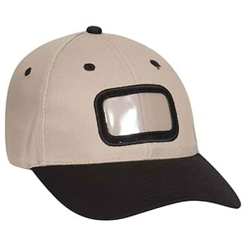 Otto Brushed Cotton Twill Non-Illuminated Frame Caps Classic Low Profile Style Rectangle