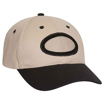 Otto Brushed Cotton Twill Non-Illuminated Frame Caps Classic Low Profile Style Oval