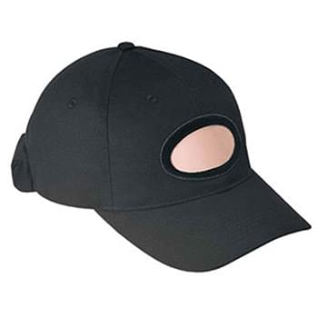Otto Brushed Cotton Twill Illuminated Frame Caps Classic Low Profile Style Oval