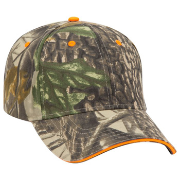 Otto Camouflage Brushed Cotton Twill Sandwich Visor Low Profile Style Caps
