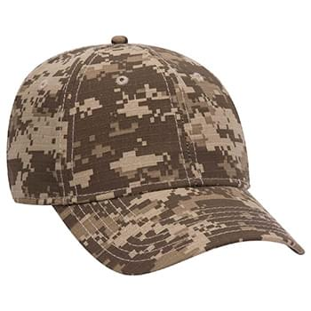 OTTO Digital Camouflage Cotton Ripstop Six Panel Low Profile Baseball Cap