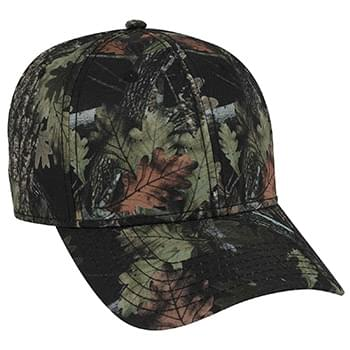 OTTO Camouflage Superior Polyester Twill Six Panel Low Profile Baseball Cap