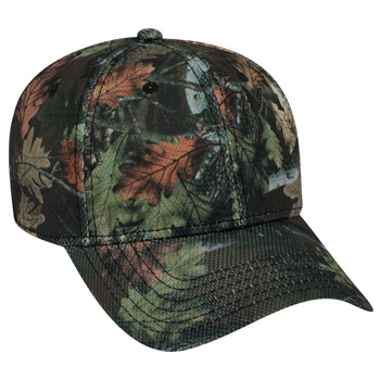 OTTO Camouflage Polyester Pique Mesh Six Panel Low Profile Baseball Cap
