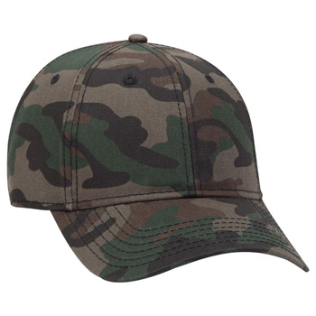 OTTO 6 Panel Low Profile Syle Camouflage Cotton Twill Cap