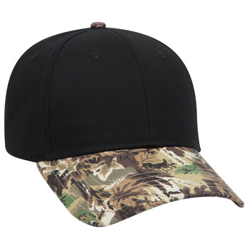 Otto Camouflage Visor Cotton Twill Low Profile Style Caps