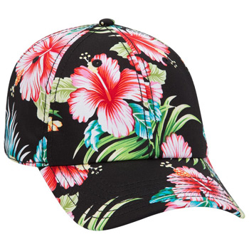 OTTO Hawaiian Pattern Cotton Twill Six Panel Low Profile Baseball Cap