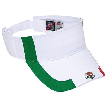 OTTO Mexico Flag Design Cotton Twill Sun Visor