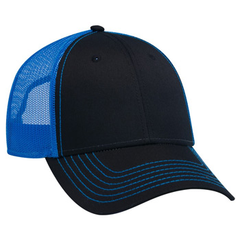 OTTO 6 Panel Low Profile Contrast Vertical Mesh Back Cap