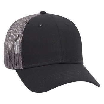 OTTO Cotton Canvas Mesh Back Low Profile Baseball Cap