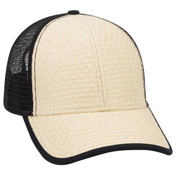 Otto Toyo Straw Low Profile Style Mesh Back Caps
