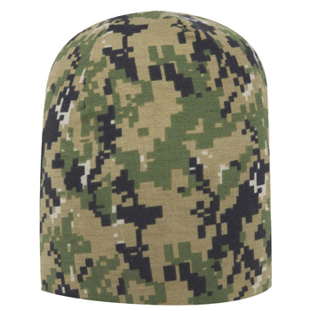 OTTO Digital Camouflage Polyester Jersey Knit 9 1/2 Lightweight Beanie