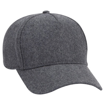 OTTO Five Panel Low Profile Melton Wool Cap
