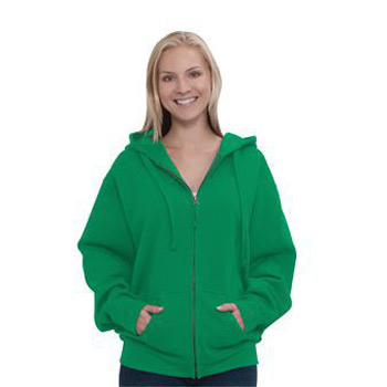 OTTO 8.0 oz. Cotton Blend Fleece Unisex Full-Zip Hooded Sweatshirt