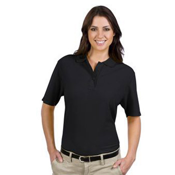 OTTO 5.6 oz. Cotton Blend Pique Knit Ladies' Comfortable Sport Shirt