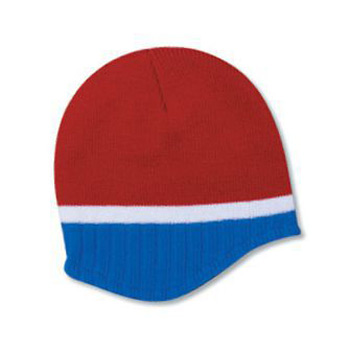 a997d1a45c8 Otto Acrylic Knit Beanie With Trim And Fleece Lining