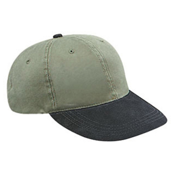 Otto Suede Visor Washed Pigment Dyed Bull Denim Low Profile Style Caps