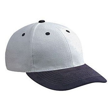 Otto Suede Visor Brushed Bull Denim Low Profile Style Caps
