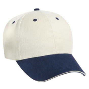 Otto Brushed Cotton Twill Sandwich Visor Low Profile Style Caps