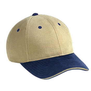 Otto Superior Brushed Cotton Twill Sandwich Visor Low Profile Style Caps