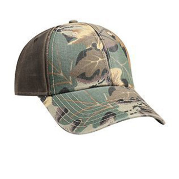 Otto Camouflage Garment Washed Cotton Twill Heavy Washed Wax Coated Back Low Profile Style Caps