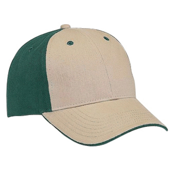 Otto Brushed Cotton Twill Flipped Edge Visor Low Profile Style Caps