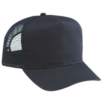 Otto Cotton Twill Five Panel Pro Style Mesh Back Caps