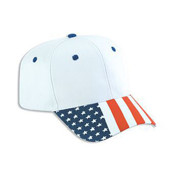 Otto United States Flag Visor Cotton Twill Pro Style Caps