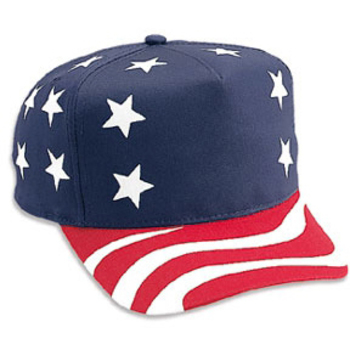 Otto United States Flag Pattern Cotton Twill Low Crown Golf Style Caps