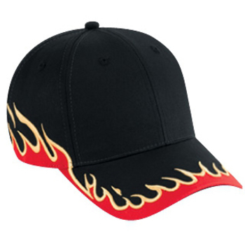 Otto Flame Pattern Cotton Twill Low Profile Style Caps