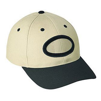 Otto Brushed Cotton Twill Non-Illuminated Frame Caps Classic Low Profile Style Caps Oval