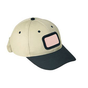 Otto Brushed Cotton Twill Illuminated Frame Caps Classic Low Profile Style Rectangle