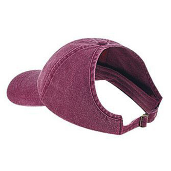 Otto Washed Pigment Dyed Cotton Twill Ponytail Low Profile Style Caps