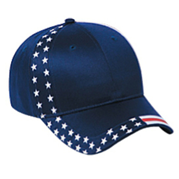 Otto United States Flag Design Cotton Twill Low Profile Style Caps
