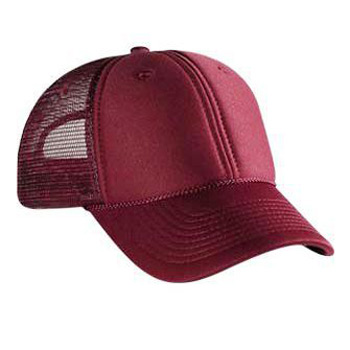 c23179de Otto Polyester Foam Front Low Profile Style Mesh Back Caps