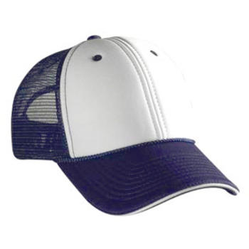 Otto Polyester Foam Front Sandwich Visor Low Profile Style Mesh Back Caps