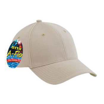 OTTO Brushed Stretchable Cotton Twill OTTO-A-FLEX Six Panel Low Profile Baseball Cap