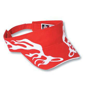 OTTO Flame Pattern Brushed Cotton Twill Sandwich Visor Sun Visor