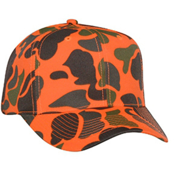 Otto Neon Camouflage Polyester Twill Pro Style Caps
