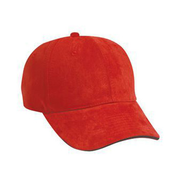 Otto Polyester Microfiber Suede Sandwich Visor Low Profile Style Caps