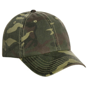 Otto Camouflage Garment Washed Cotton Twill Low Profile Style Caps