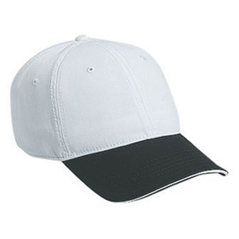 Otto Superior Garment Washed Cotton Twill Sandwich Visor Low Profile Style Caps