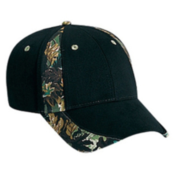 Otto Camouflage Piping Design Brushed Cotton Twill Low Profile Style Caps