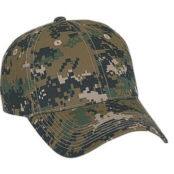 Otto Digital Camouflage Cotton Twill Low Profile Style Caps