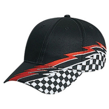 Otto Racing Pattern Cotton Twill Low Profile Style Caps