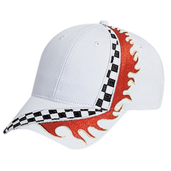Otto Racing Flame Pattern Cotton Twill Low Profile Style Caps