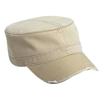 Otto Superior Garment Washed Cotton Twill Distressed Visor Military Style Caps