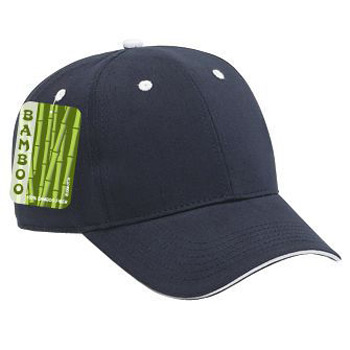 Otto Brushed Bamboo Twill Sandwich Visor Low Profile Style Caps